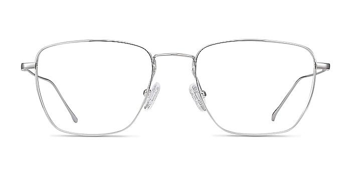 Future Silver Titanium Eyeglass Frames from EyeBuyDirect