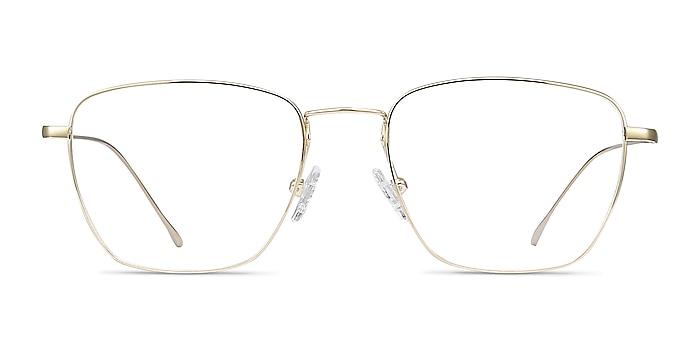 Future Golden Titanium Eyeglass Frames from EyeBuyDirect
