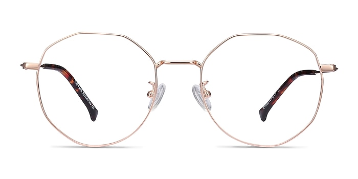 The Path Rose Gold Titanium Eyeglass Frames from EyeBuyDirect
