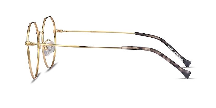 The Path Black Golden Titanium Eyeglass Frames from EyeBuyDirect