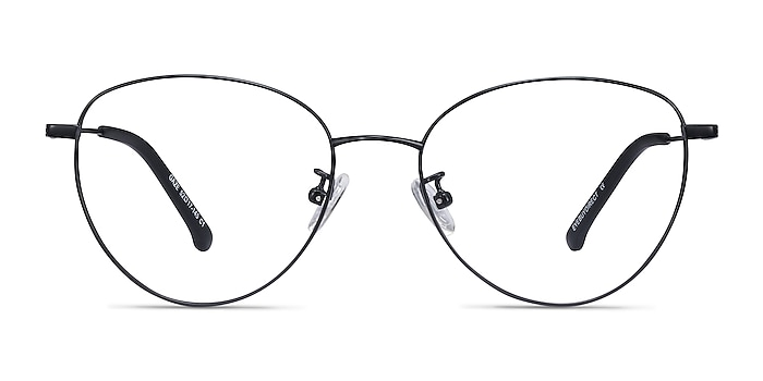 Gaze Black Titanium Eyeglass Frames from EyeBuyDirect