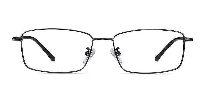 Holmst Black Titanium Eyeglass Frames from EyeBuyDirect