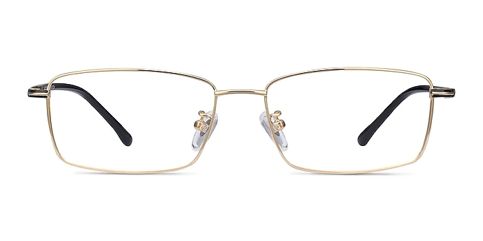 Holmst Golden Titanium Eyeglass Frames from EyeBuyDirect