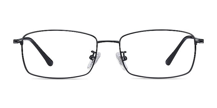 Hobbes Black Titanium Eyeglass Frames from EyeBuyDirect