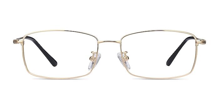 Hobbes Golden Titanium Eyeglass Frames from EyeBuyDirect