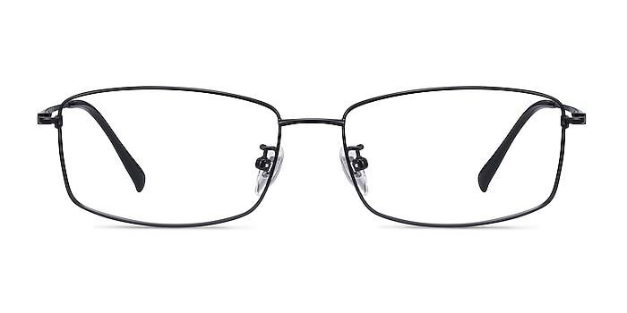 Embark Black Titanium Eyeglass Frames from EyeBuyDirect