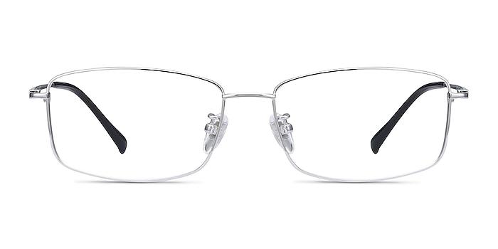 Embark Silver Titanium Eyeglass Frames from EyeBuyDirect
