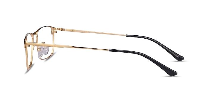 Fielder Gold Titanium Eyeglass Frames from EyeBuyDirect