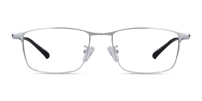 Fielder Silver Titanium Eyeglass Frames from EyeBuyDirect