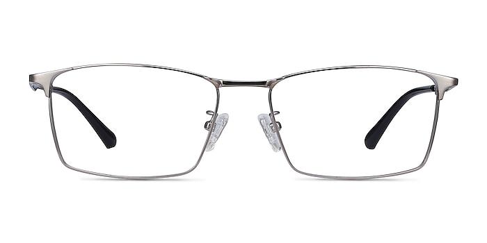 Decider Gunmetal Titane Montures de lunettes de vue d'EyeBuyDirect