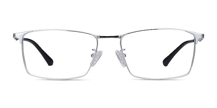Decider Argenté Titane Montures de lunettes de vue d'EyeBuyDirect