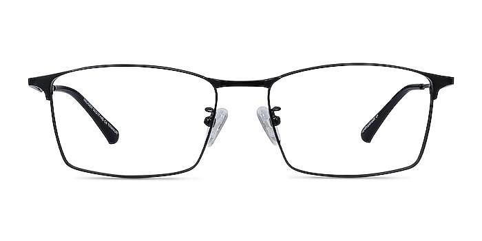 Decider Black Titanium Eyeglass Frames from EyeBuyDirect