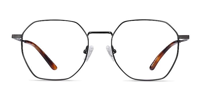 Comet Black Titanium Eyeglass Frames from EyeBuyDirect