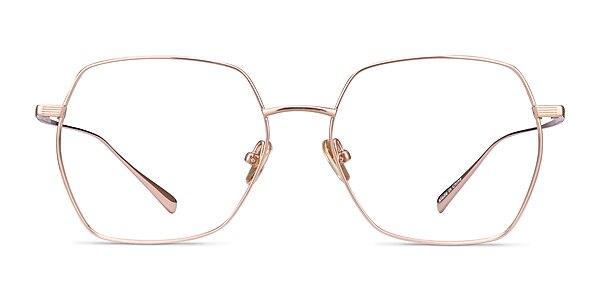 Holistic Rose Gold Titanium Eyeglass Frames