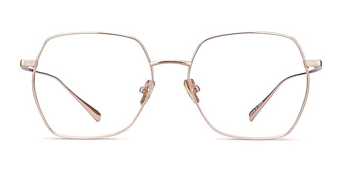 Holistic Rose Gold Titanium Eyeglass Frames from EyeBuyDirect