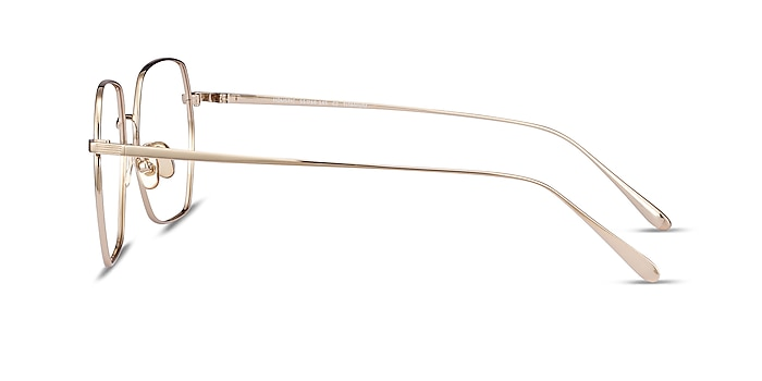 Holistic Gold Titanium Eyeglass Frames from EyeBuyDirect