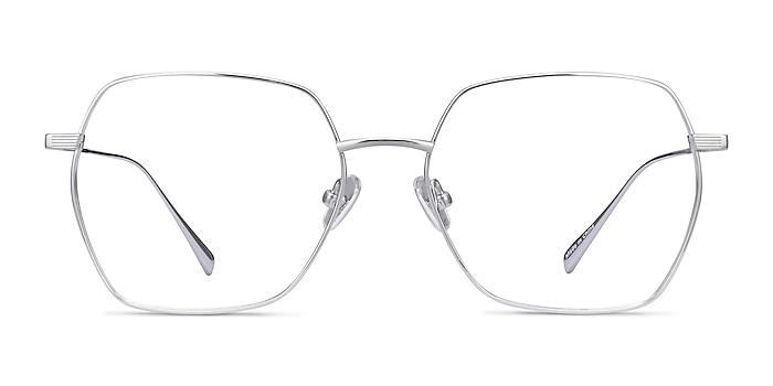 Holistic Silver Titanium Eyeglass Frames from EyeBuyDirect