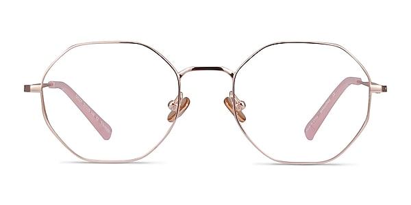 Cecily Rose Gold Titanium Eyeglass Frames
