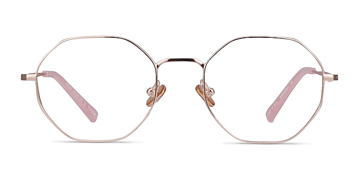 Cecily Rose Gold Titanium Eyeglass Frames from EyeBuyDirect