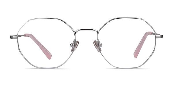 Cecily Silver Titanium Eyeglass Frames