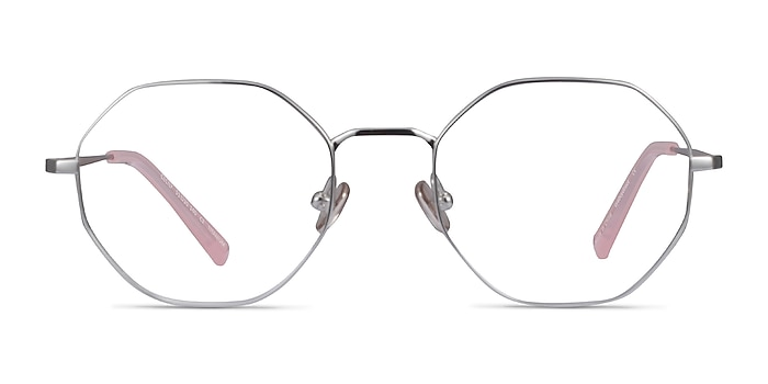 Cecily Argenté Titane Montures de lunettes de vue d'EyeBuyDirect