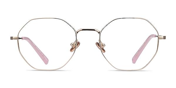 Cecily Gold Titanium Eyeglass Frames