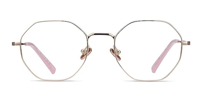 Cecily Gold Titanium Eyeglass Frames from EyeBuyDirect
