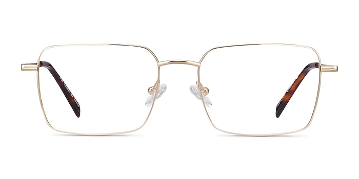 Apex Gold Titanium Eyeglass Frames from EyeBuyDirect