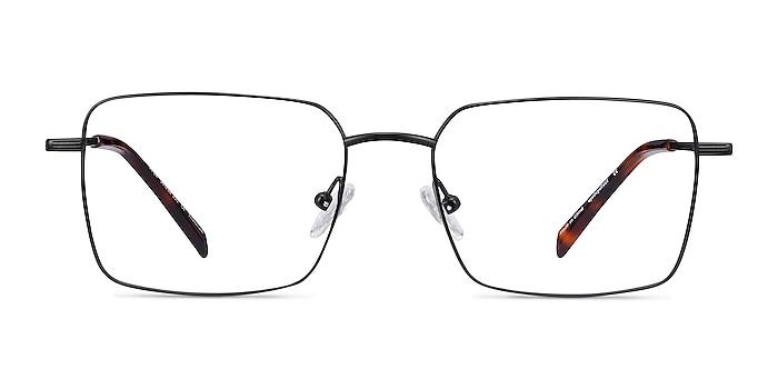 Apex Black Titanium Eyeglass Frames from EyeBuyDirect