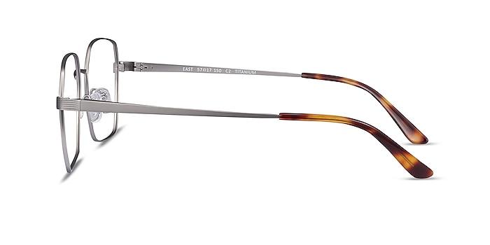 East Gunmetal Titanium Eyeglass Frames from EyeBuyDirect