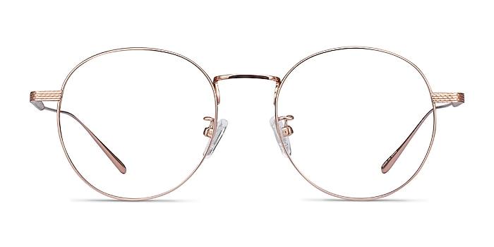 Geometry Rose Gold Titanium Eyeglass Frames from EyeBuyDirect