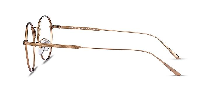 Geometry Bronze Titanium Eyeglass Frames from EyeBuyDirect