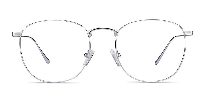 Arbor Silver Titanium Eyeglass Frames from EyeBuyDirect