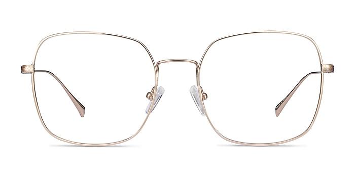 Meteor Gold Titanium Eyeglass Frames from EyeBuyDirect