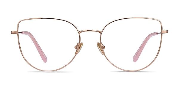 Imani Rose Gold Titanium Eyeglass Frames