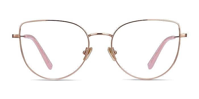 Imani Rose Gold Titane Montures de lunettes de vue d'EyeBuyDirect