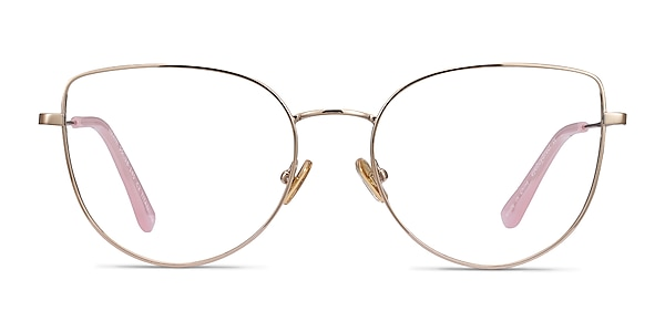 Imani Gold Titanium Eyeglass Frames