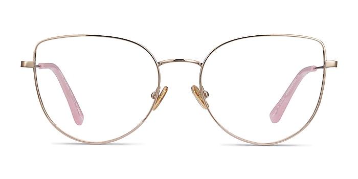 Imani Gold Titanium Eyeglass Frames from EyeBuyDirect