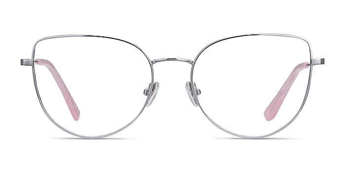 Imani Silver Titanium Eyeglass Frames from EyeBuyDirect