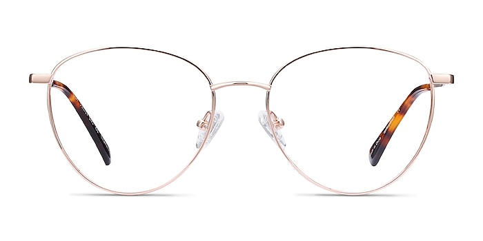 Lila Rose Gold Titane Montures de lunettes de vue d'EyeBuyDirect