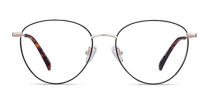 Lila Black & Gold Titane Montures de lunettes de vue d'EyeBuyDirect