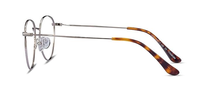 Lila Silver Titanium Eyeglass Frames from EyeBuyDirect