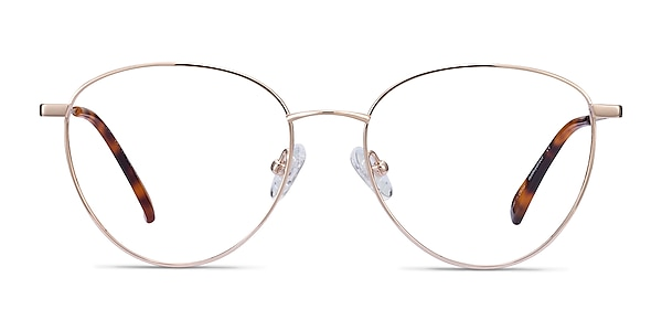 Lila Gold Titanium Eyeglass Frames