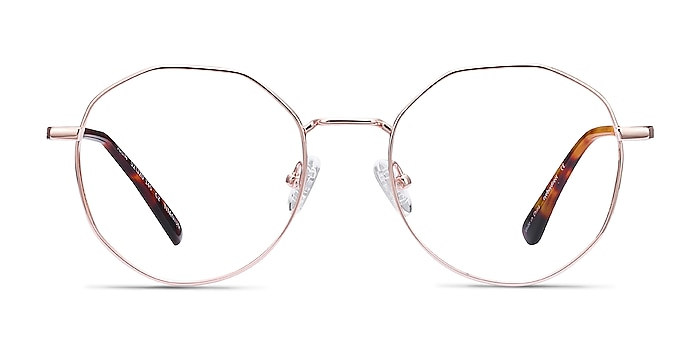 Julia Rose Gold Titane Montures de lunettes de vue d'EyeBuyDirect