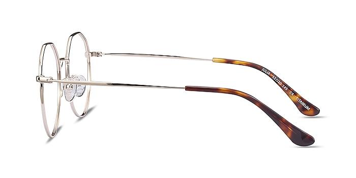 Julia Gold Titanium Eyeglass Frames from EyeBuyDirect