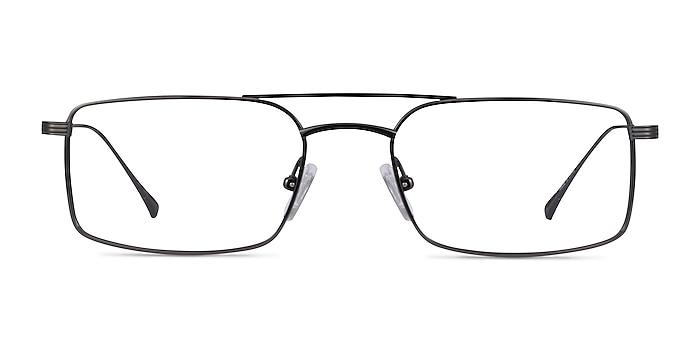 Johnson Dark Gunmetal Titane Montures de lunettes de vue d'EyeBuyDirect