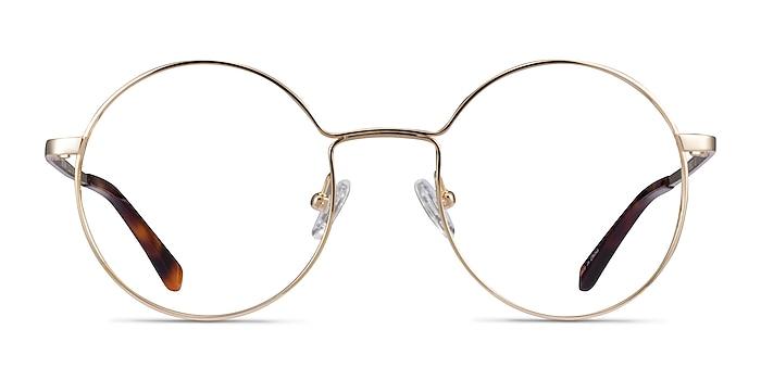 Midtown Doré Titane Montures de lunettes de vue d'EyeBuyDirect