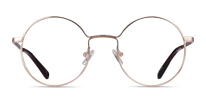 Midtown Rose Gold Titane Montures de lunettes de vue d'EyeBuyDirect