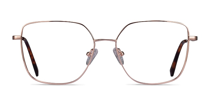 Bessie Rose Gold Titanium Eyeglass Frames from EyeBuyDirect