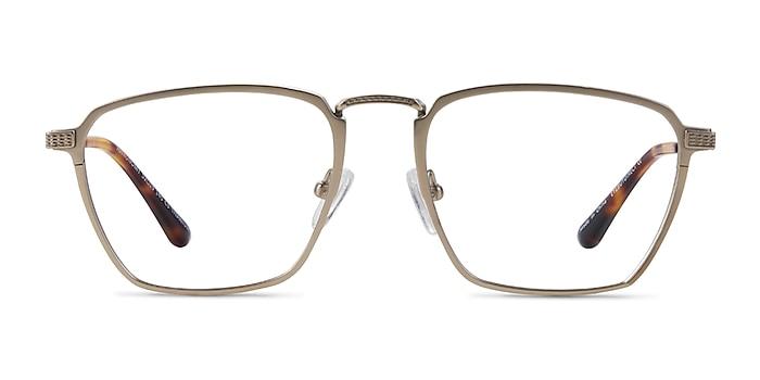 Astronomy Matte Gold Titanium Eyeglass Frames from EyeBuyDirect